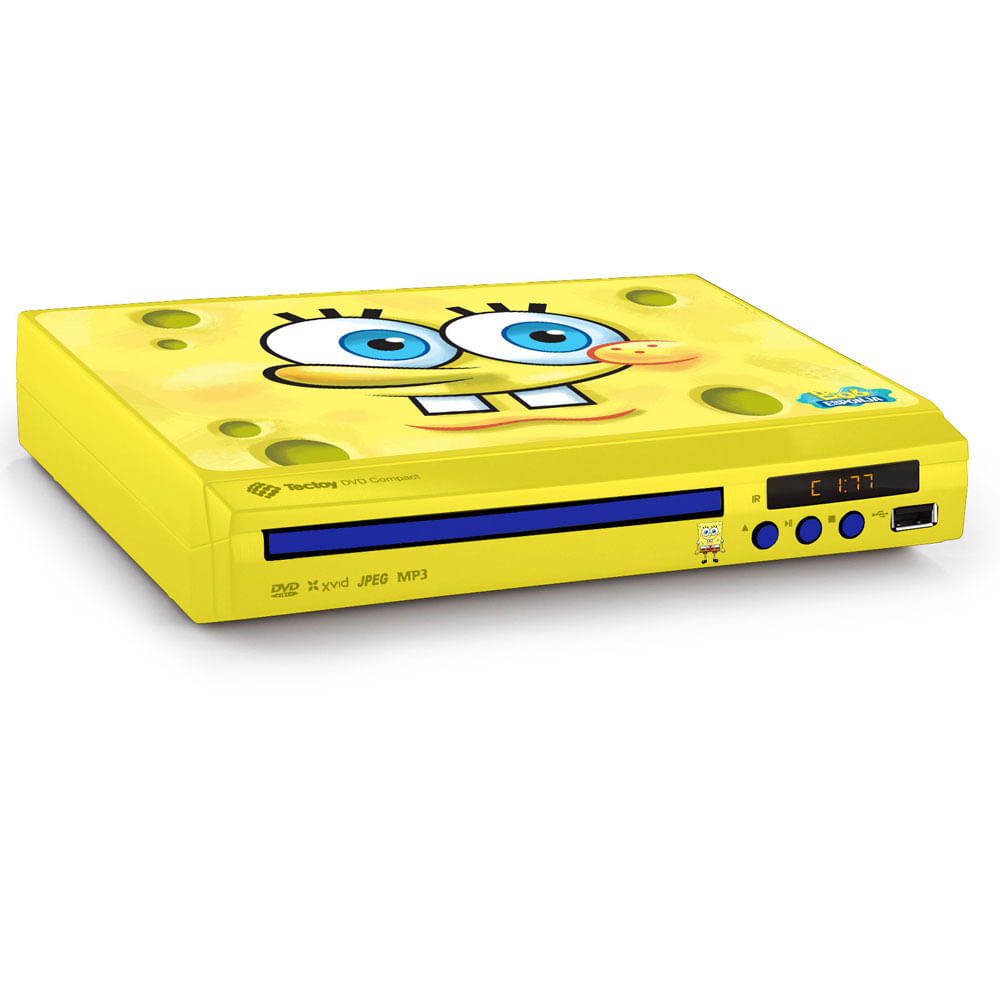 DVD Player Compacto - Bob Esponja - Tectoy