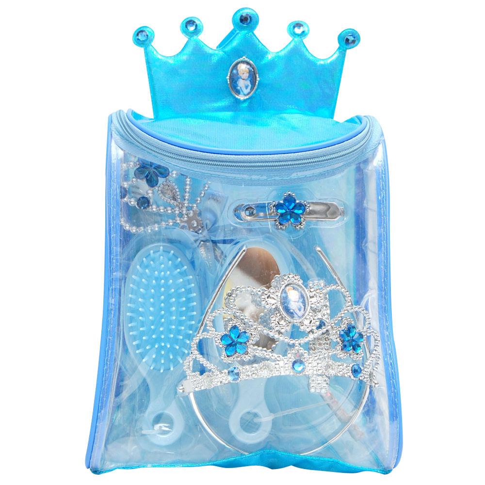 Kit de Acessórios Princesas Disney - Cuidado com o Cabelo - Cinderela - New Toys