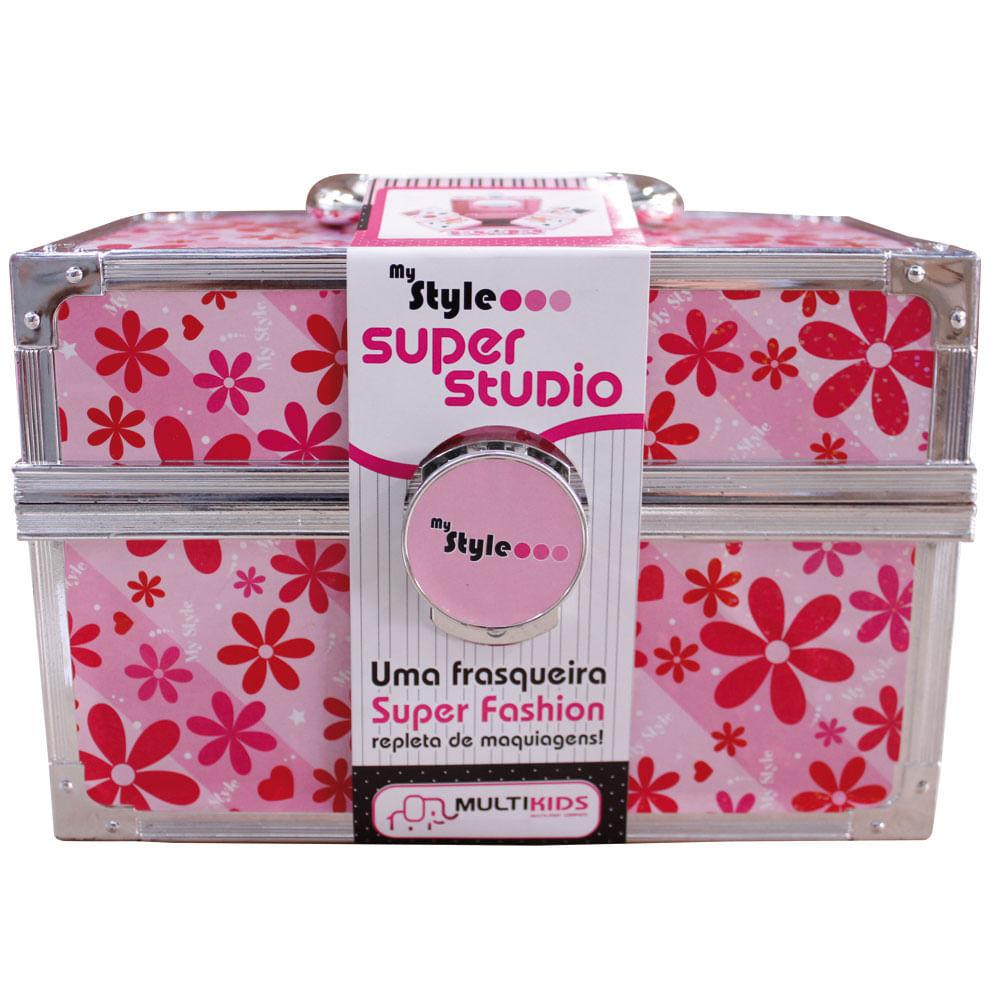 My Style - Maleta de Maquiagem Super Studio Florido - Multikids
