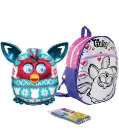 Kit-Pelucia-Interativa-Furby-Boom-Festive-Sweater-Hasbro-Mochila-Furby-para-Colorir-Rosa-Love