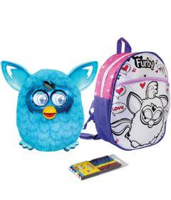 Kit-Pelucia-Interativa-Furby-Boom-Azul-Favorito-Hasbro-Mochila-Furby-para-Colorir-Rosa-Love