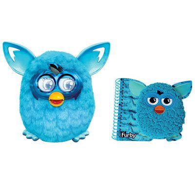 Kit-Pelucia-Interativa---Furby-Boom-Azul-Favorito---Hasbro---Caderno-com-Espiral-Medio-Azul