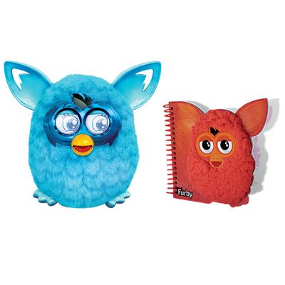 Kit-Pelucia-Interativa---Furby-Boom-Azul-Favorito---Hasbro---Caderno-com-Espiral-Medio-Vermelho