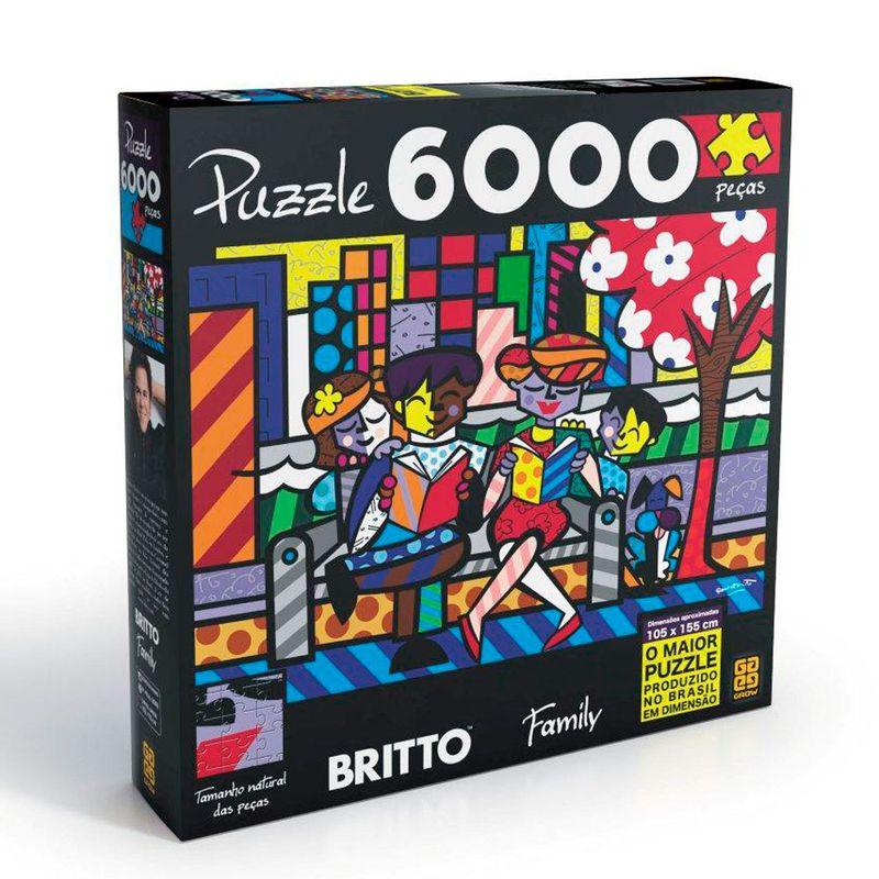 2bdec47493 Quebra-Cabeça - Romero Britto Family - 6000 Peças - Grow - Saraiva
