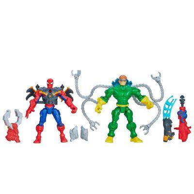 Bonecos-Marvel---Super-Hero-Mashers---Spider-Man-Vs-Doc-Ock---Hasbro