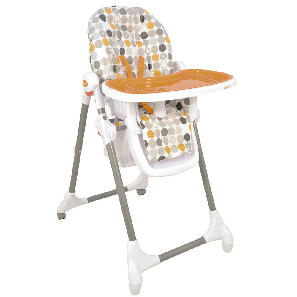 Cadeira de Alimentação Alta Snack - Laranja - Kiddo