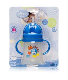 Caneca-com-Canudo-de-Silicone-180-ml-Disney-Azul---Lillo