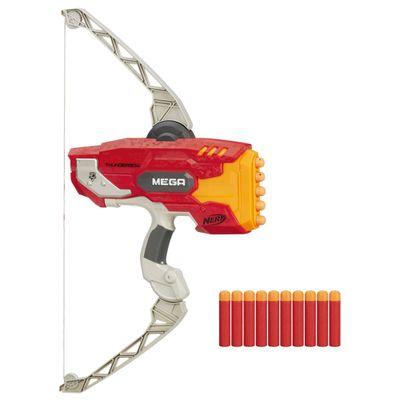 Kit-Lancador-Nerf-N-Strike-Elite---Mega-Thunderbow---Refil-Nerf-N-Strike-Mega---10-Dardos---Hasbro