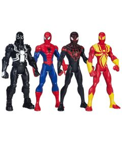 Kit-Bonecos-Ultimate-Spider-Man-Web-Warriors---Marvel---14-cm---Hasbro