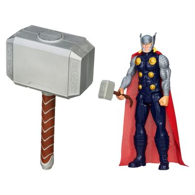Kit-Avengers---Boneco-Titan-Hero-Series---Thor---Martelo-de-Batalha-do-Thor---Hasbro
