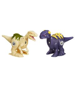 Figura-Jurassic-World---Dinos-de-Combate-Brawlasaurs---Pack-Com-2---Anikylosaurus-e-Indominus-Rex---Hasbro-1