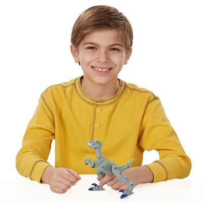 Figura-Jurassic-World---Hero-Mashers---Velociraptor-Cinza---Hasbro-1