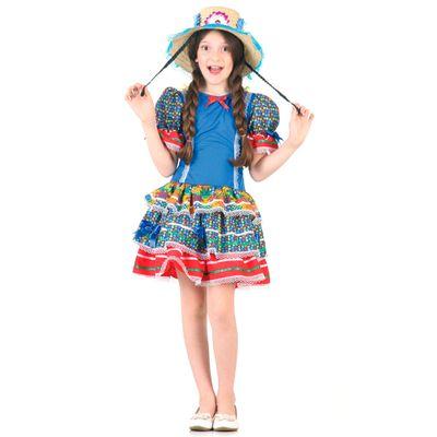 Fantasia-Junina-Luxo---Vestido-Caipirinha-Azul---Sulamericana