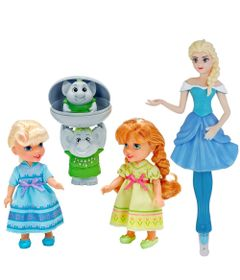 Bonecas-Disney-Frozen-Anna-e-Elsa-com-Trolls-Caneta-Elsa