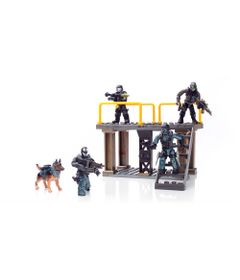 Playset-Mega-Bloks---Call-of-Duty---Covert-Ops-Unit---Mattel