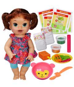 535ffb3040 Boneca Baby Alive - Comilona - Morena + Kit Refil de Comidinha com 8 -  Hasbro