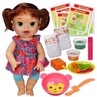 Boneca-Baby-Alive-Comilona-Morena-Kit-Baby-Alive-Refil-de-Comidinha-com-8-Hasbro