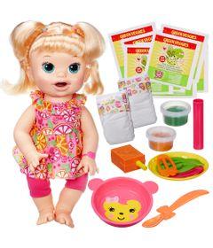 Boneca-Baby-Alive-Comilona-Loira-Kit-Baby-Alive-Refil-de-Comidinha-com-8-Hasbro