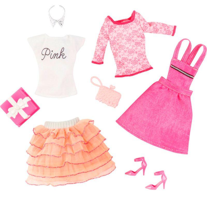 45110a1af Pack Com 2 Vestidos Barbie Fashion - Serie 5 - Mattel - PBKIDS