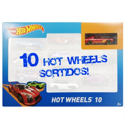 Carrinhos-Hot-Wheels-Pacote-com-10-Carros-Sortidos-Pack-H-54886-Mattel