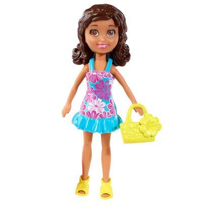 Boneca-Polly-Pocket--Shani-com-Vestido-Floral-Azul--Mattel