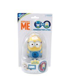 Mini-Boneco---Minion-Luminoso---Character-Lite---Dave---Estrela