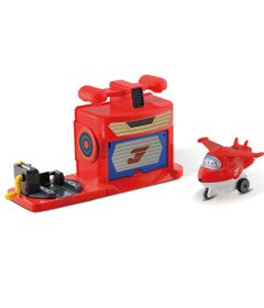 Playset-Super-Wings---Hangar-do-Jett-com-Aviao---Intek-1