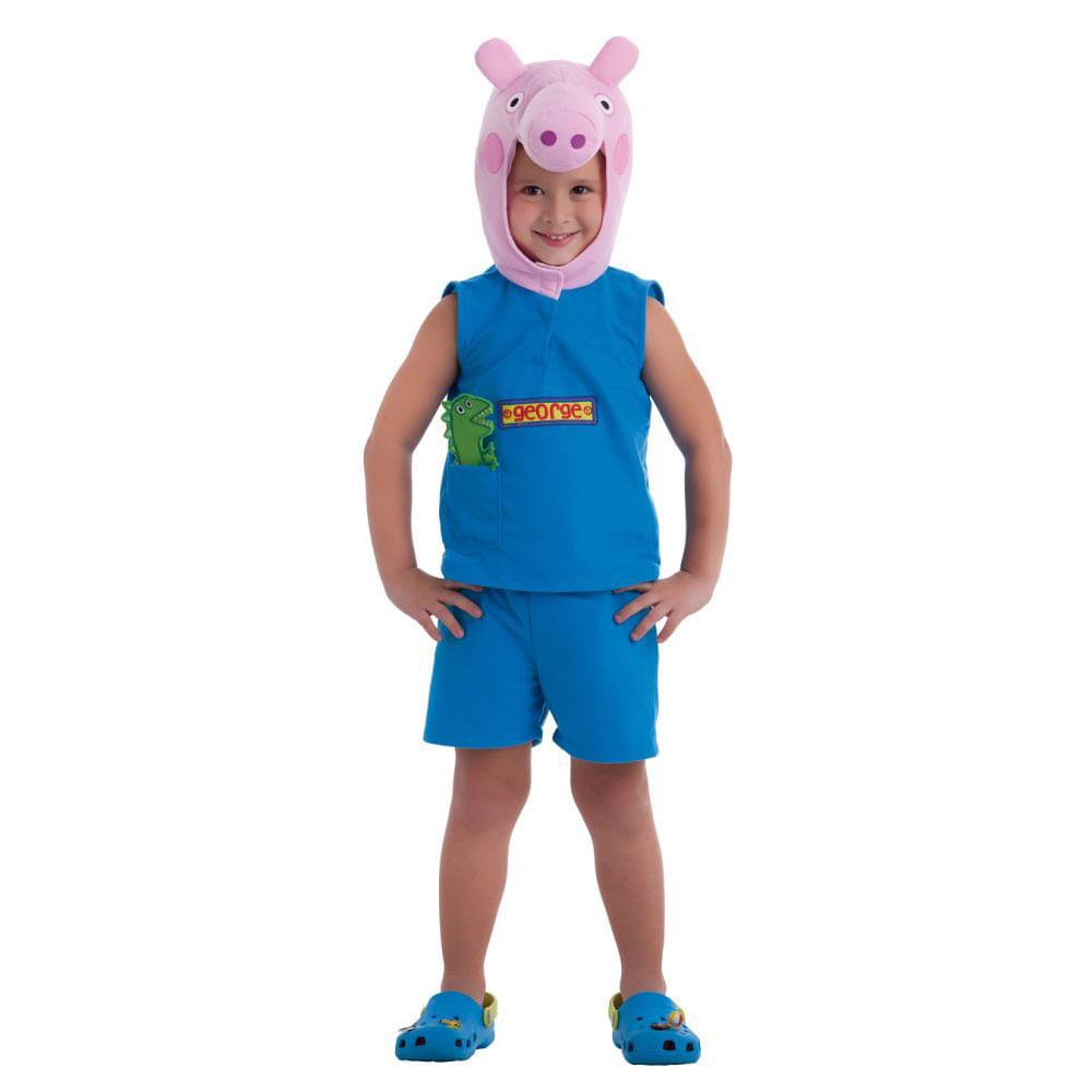 Fantasia Infantil - Peppa Pig - George - Multibrink Fantasia Infantil - Peppa Pig - George - Tam P - Multibrink