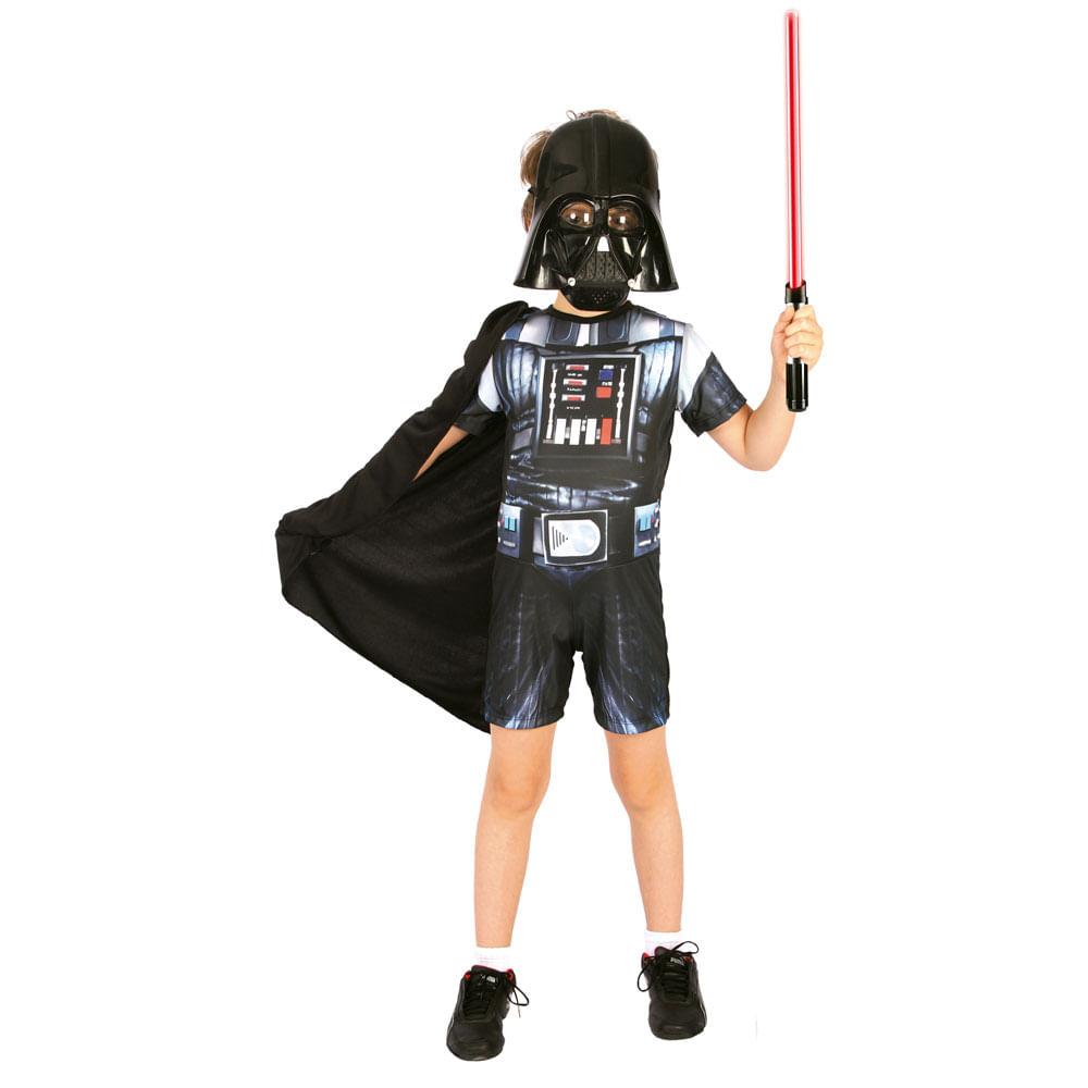 Fantasia Curta - Star Wars - Darth Vader - Regina Festas - Disney