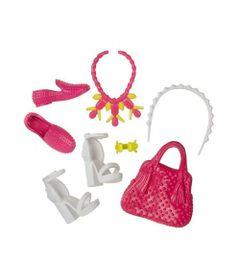 ae20e830e Acessórios Barbie - Bolsas e Sapatos - Serie - 6 - Mattel