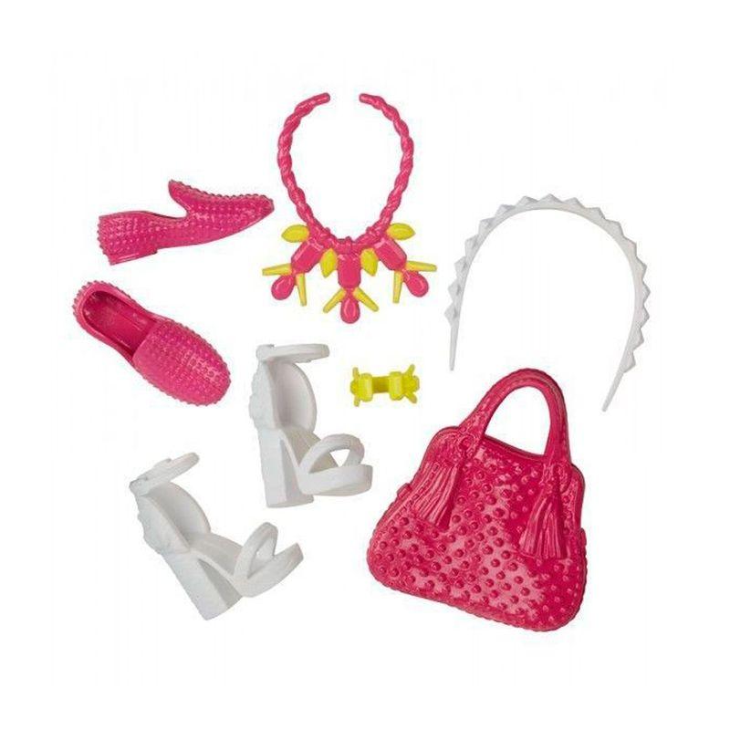 a8fc8efa7 Acessórios Barbie - Bolsas e Sapatos - Serie - 6 - Mattel - Ri Happy  Brinquedos