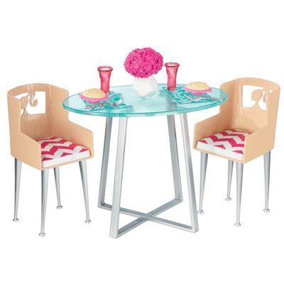 Casa-da-Barbie---Moveis---Mesa-com-Cadeiras---Mattel
