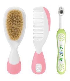 100110118-Kit-de-Higiene-com-Escova-de-Dentes-Infantil-Escova-e-Pente-com-Cerdas-Naturais-Chicco