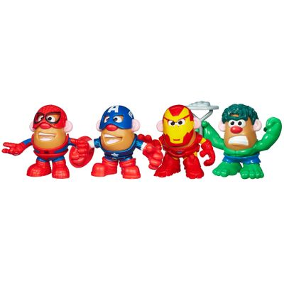 100110463-Mini-Bonecos-Mr.-Potato-Head-Marvel-Hulk-Iron-Man-Spider-Man-e-Capitao-America-Hasbro