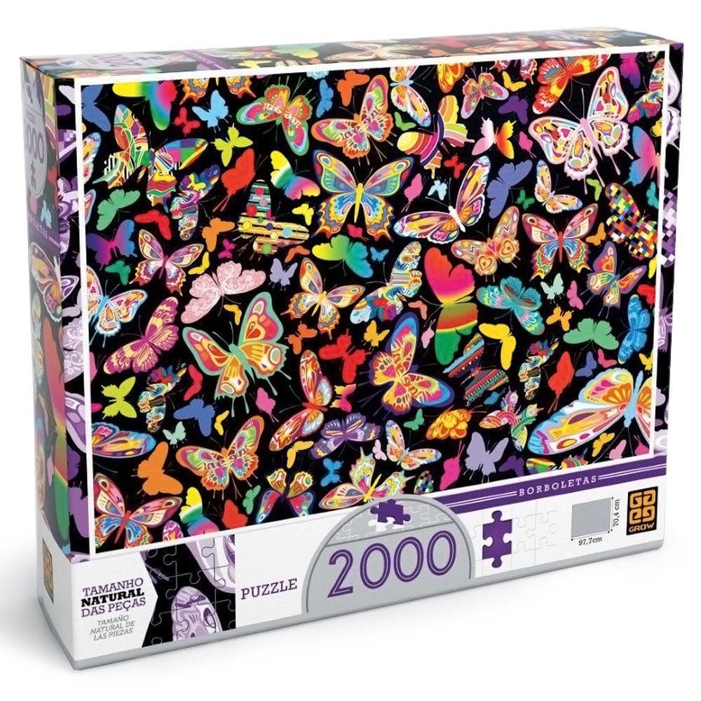 Quebra - Cabeça - Borboletas - 2000 Peças - Grow
