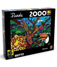 Quebra-Cabela-Romero-Britto---Amazon---1000-Pecas---Grow