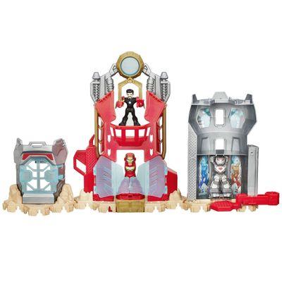 Playset-Marvel-Super-Hero-Adventures---Playskool---Laboratorio-Stark---Hasbro
