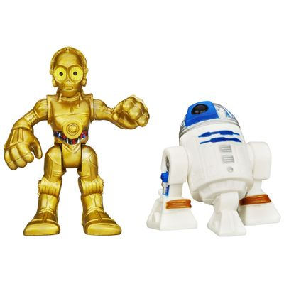 Boneco-Star-Wars---Playskool---R2D2-e-C3PO---Hasbro