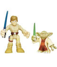 Boneco-Star-Wars---Playskool---Mestre-Yoda-e-Luke-Skywalker---Hasbro