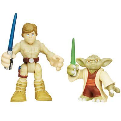 Boneco-Star-Wars---Playskool---Mestre-Yoda-e-Luke-Skywalker---Hasbro