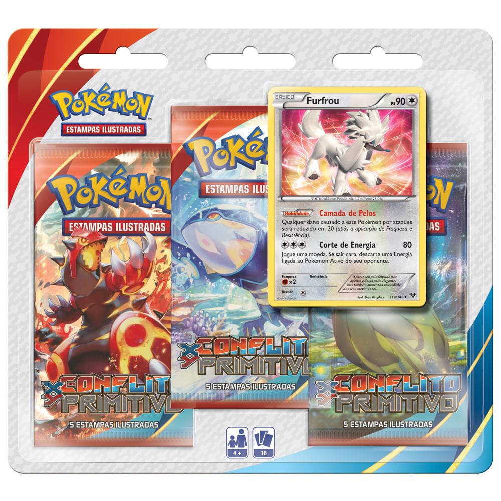Jogo Pokémon - Triple Deck Conflito Primitivo - XY 5 - Copag