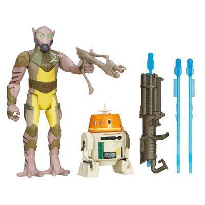 Bonecos-Star-Wars---Episodio-VII---9-cm---Garazeb-Orrelios-e-C110P-Chopper---Hasbro