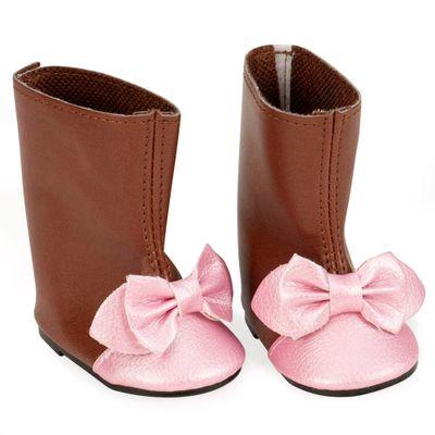 kit-de-sapatos-bota-marrom-our-generation-candide