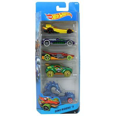 carrinhos-hot-wheels-pacote-com-5-carros-dino-riders-5-mattel