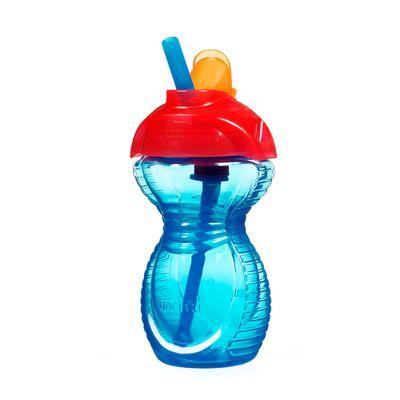 Copo-com-Canudo---Click-Lock---266ml---Azul---Munchkin