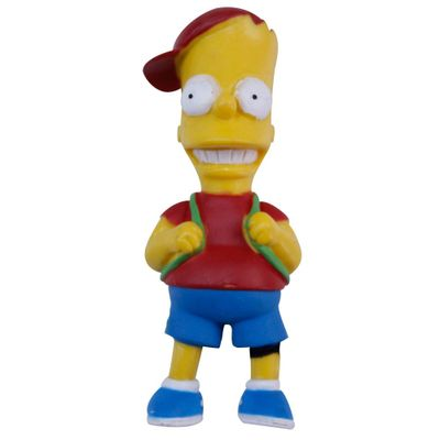 Mini-Figura---Os-Simpsons---5-cm---Bart-com-Mochila---Multikids