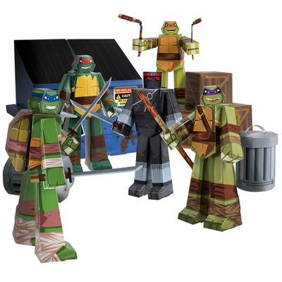 Playset-para-Montar---Tartarugas-Ninja---30-Pecas---Blueprints