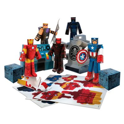 Playset-para-Montar---Avengers---30-Pecas---Blueprints
