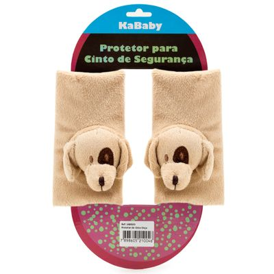 Protetor-de-Cinto-Divertido---Cachorro-Bege---KaBaby