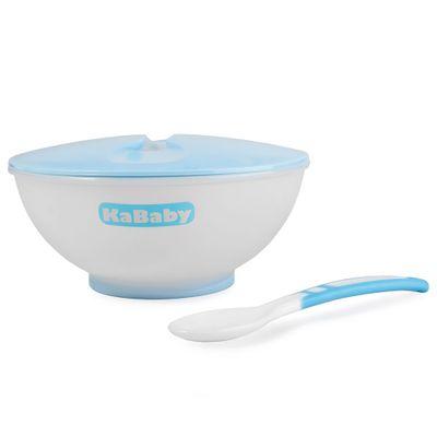 Conjunto---Prato-Fundo-e-Colher---Azul---KaBaby